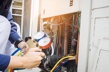 AC tune-up in a residential home